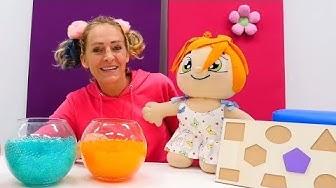 Spielen und lernen - Die Formen auf Deutsch und Englisch - Spielzeugvideo für Kinder