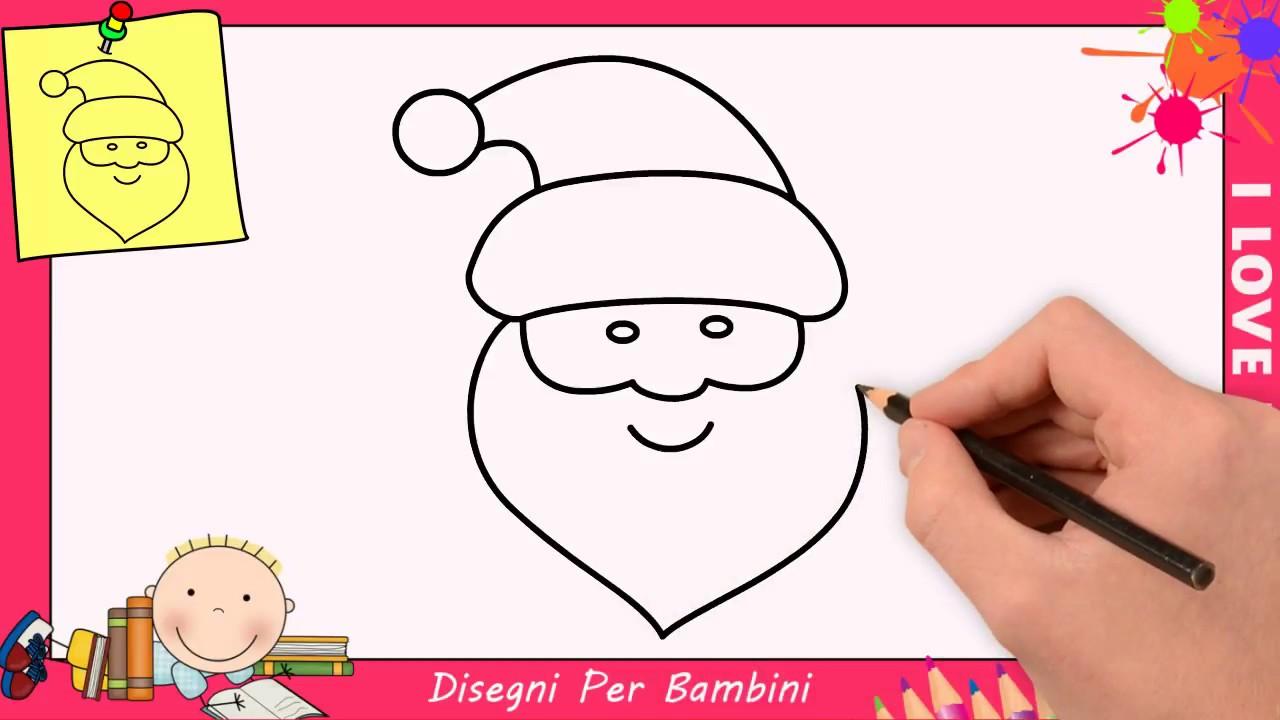 Come disegnare babbo natale facile passo per passo per for Disegni di natale facili per bambini