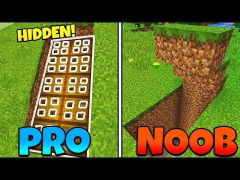 Minecraft NOOB vs. PRO: BASE ENTRANCE!