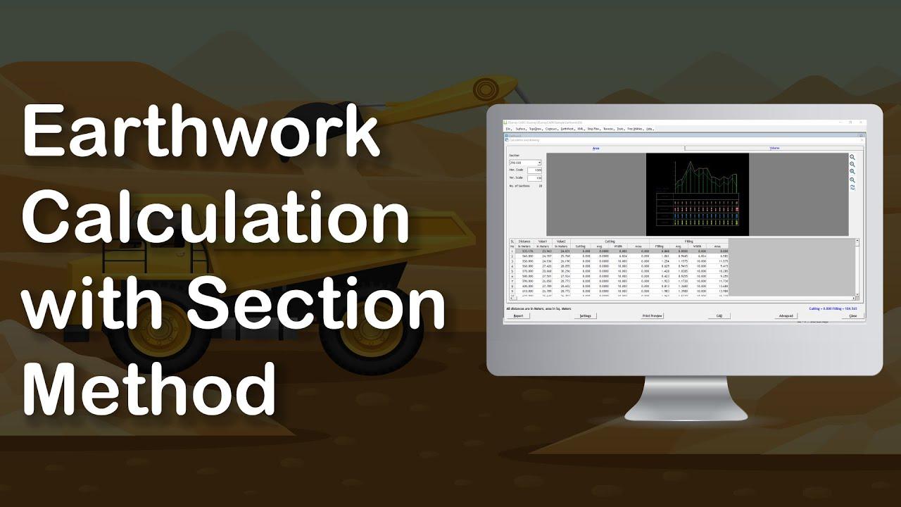 earthwork calculation with section method youtube