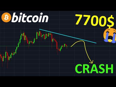 BITCOIN 7.700$ CRASH EN PRÉPARATION !? Btc Analyse Technique Crypto Monnaie