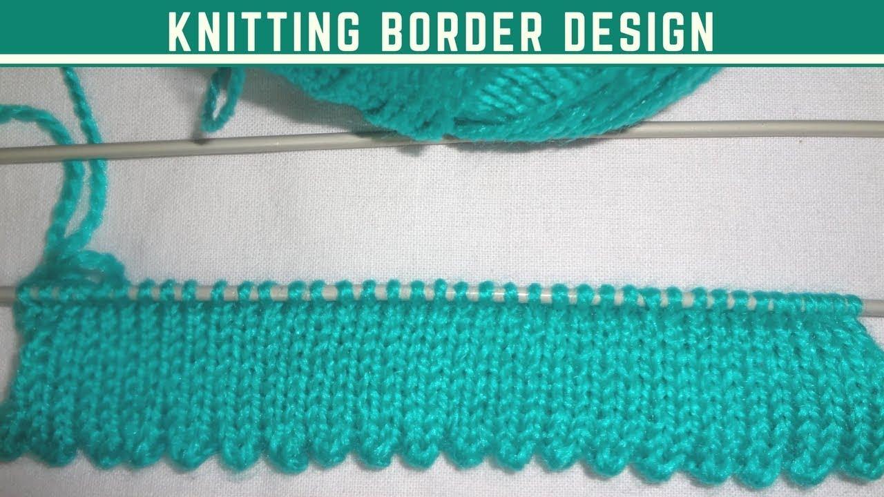 Knitting Beautiful Border Design In Hindi 4 Youtube