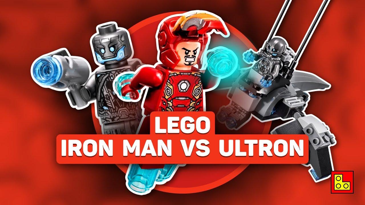 ◉ Обзор LEGO MARVEL - IRON MAN VS. ULTRON stop motion build review┃ЛЕГО Марвел Мстители 76029