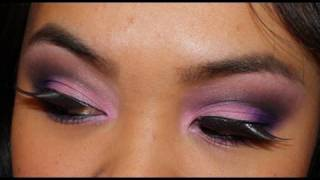 Smokey Pink, Black, and Purple makeup tutorial Thumbnail
