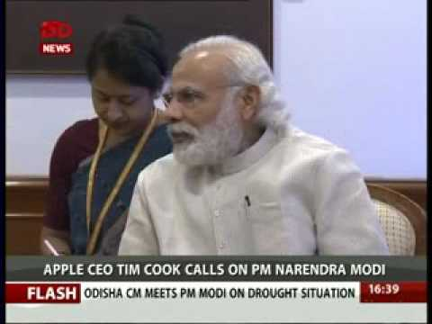 CEO of Apple Inc. Tim Cook called on PM Narendra Modi