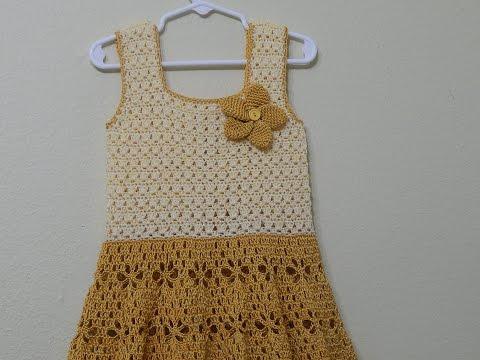 Vestido Crochet Circular parte 1 de 3