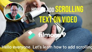 How to Add Scrolling Text On Video  Filmora 9 Tutorial