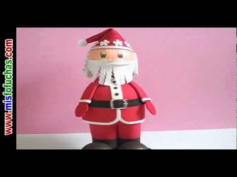 Fofucho Papá Noel Santa Claus en fomi Fofuchas navideñas Videos De Viajes