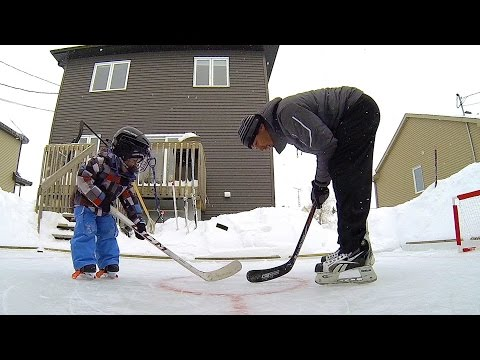 GoPro: Father and Son Backyard Hockey Fun