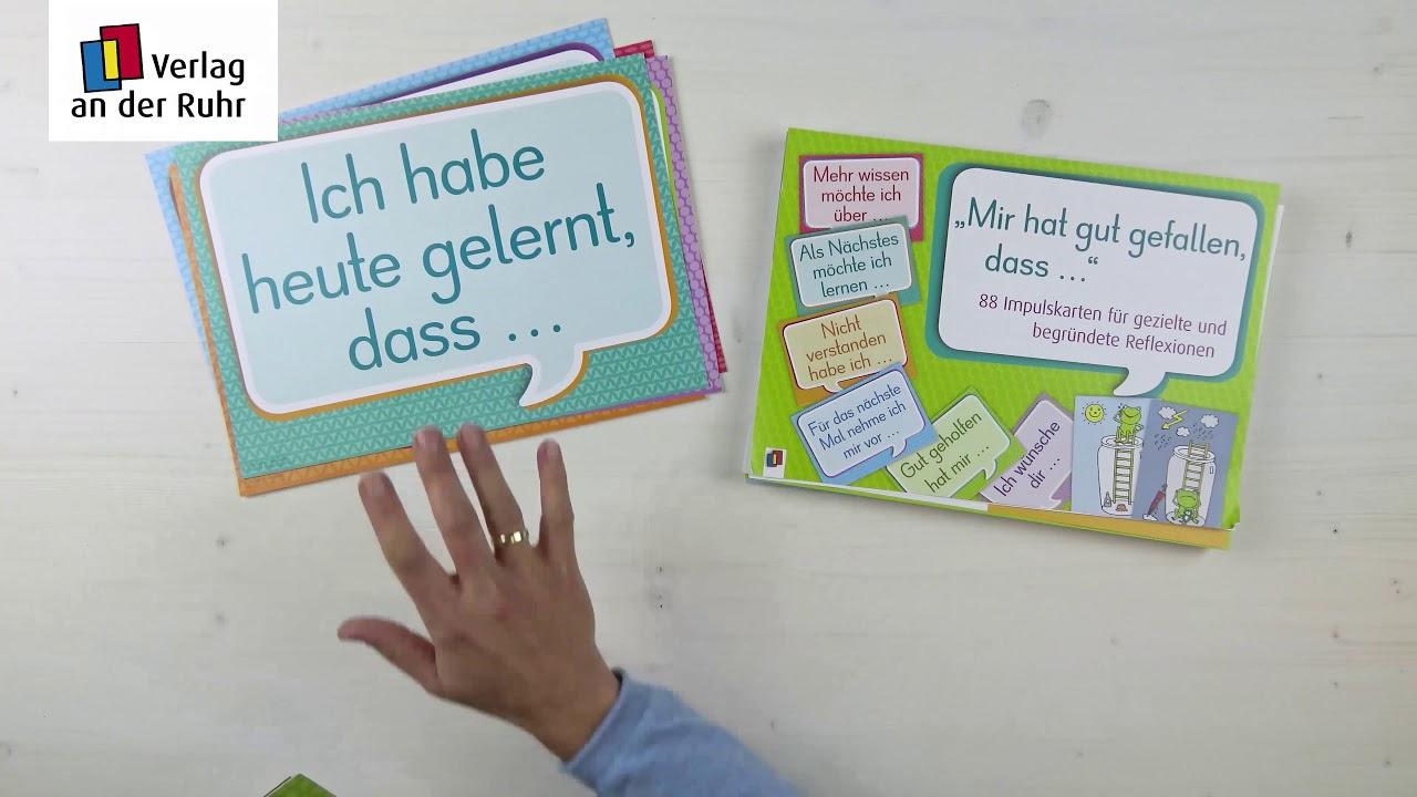 Impulskarten Fur Gezielte Und Begrundete Reflexionen Im Unterricht Youtube