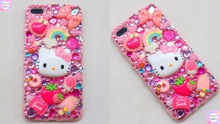 DIY Bling Phone Case/How to make Hello kitty decoden Phone/DIY Phone Case/easy way to Decoden Phone
