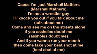 Eminem - Marshall Mathers [HQ Lyrics]