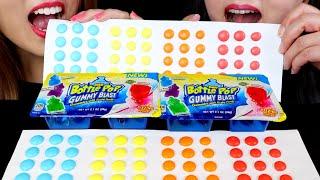 GIANT BUTTON CANDY + BABY BOTTLE POP GUMMY BLAST (Fizzing Popping Candy) | Kim&Liz Too
