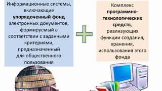 видео Электронные библиотеки