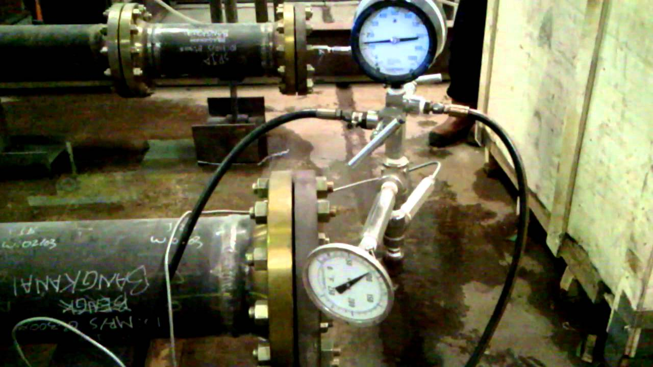 Pressure Test For Pipe Skid Metering C  W Chart Recorder