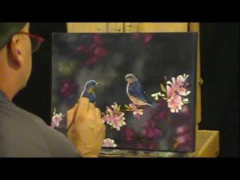 How to Paint Birds - Bluebirds