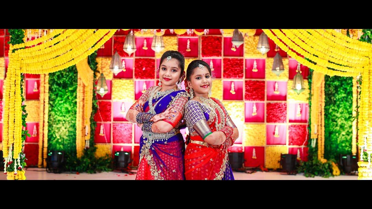 Sanvitha Manvitha Half Saree Function Youtube