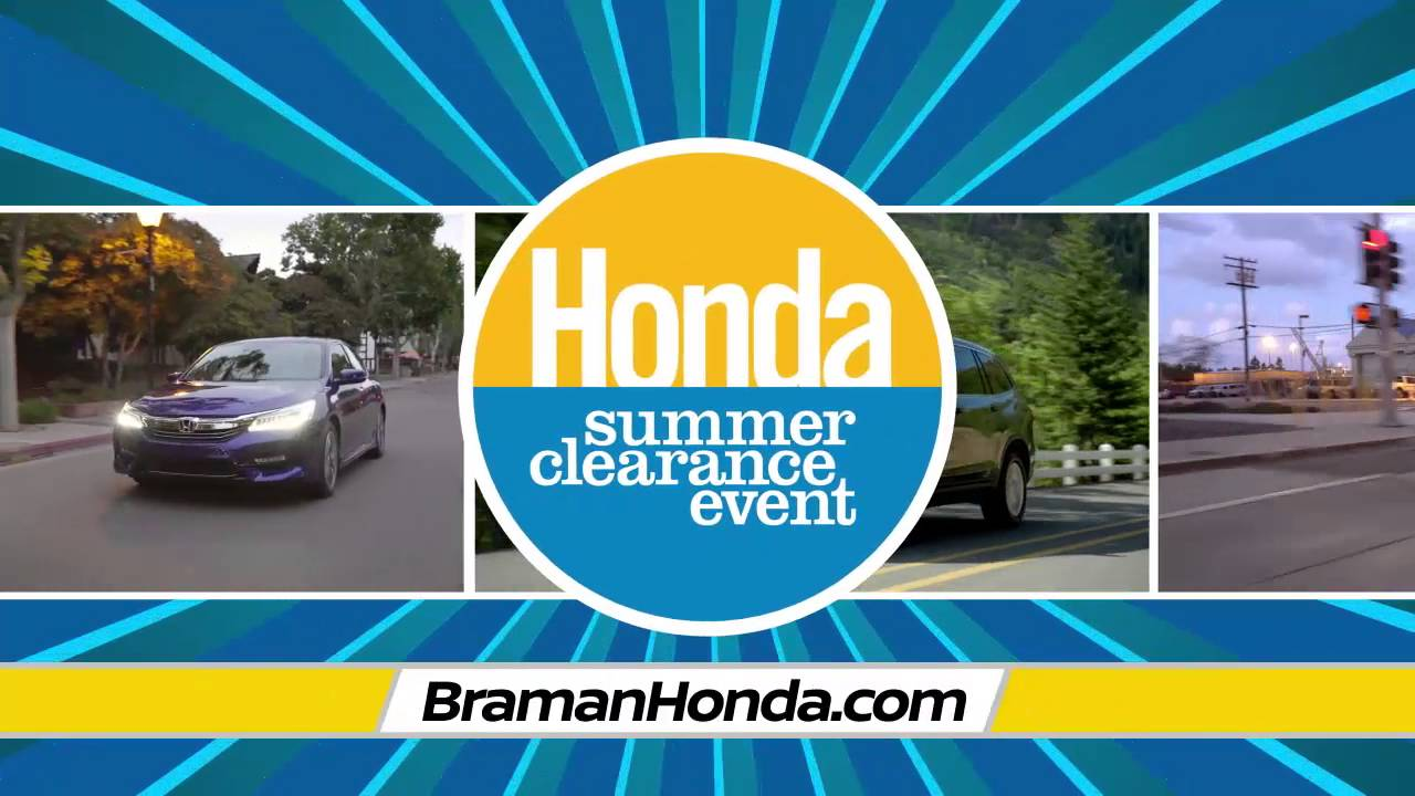 Braman Honda Miami   Honda Summer Clearance Event