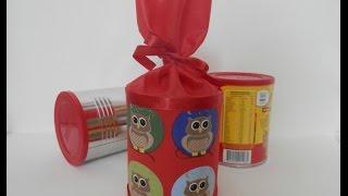 Reciclando latas para lembrancinha de festa – Alinne Marques