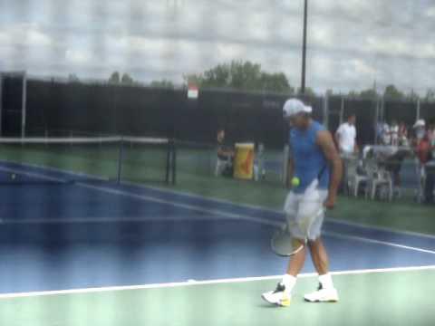 Rafael Nadal, treinando em Montreal 11/08/2009