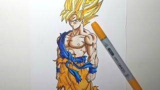 Come disegnare Son Goku SSj (HD) 孫悟空