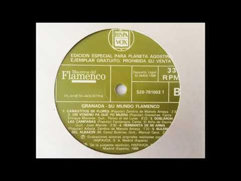 Granada - Su mundo flamenco. Cara B. LP Vinilo Hispavox, 1988.