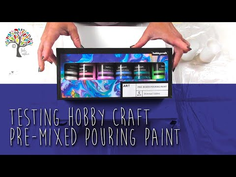 TESTING HOBBY CRAFT PRE-MIXED POURING PAINT