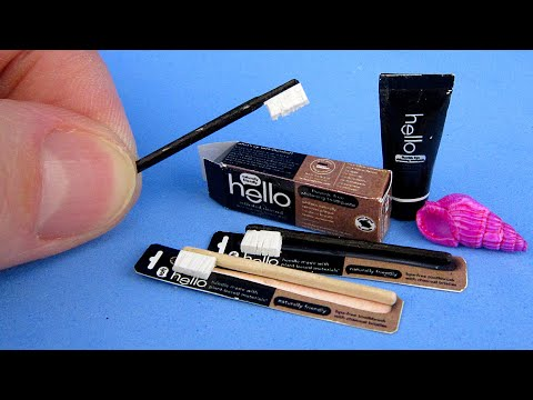 DIY how to make Miniature Charcoal Toothpaste | DollHouse toys | For Barbie