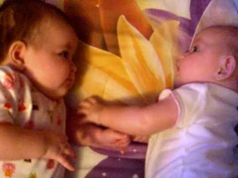 Friends For Life. Twin Girls Bonding!
