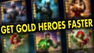 Injustice 2 Mobile. How to Get Gold Characters FAST AND EASY. Tips and Tricks.
