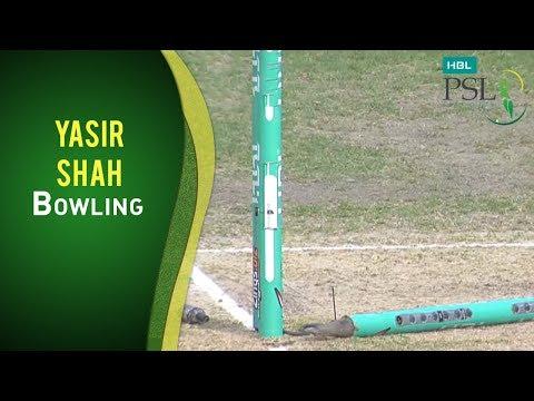 PSL 2017 Match 16: Peshawar Zalmi vs Lahore Qalandars - Yasir Shah Bowling