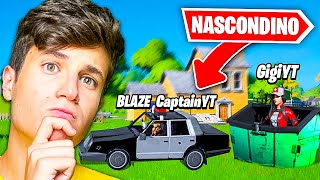 MATTIZ vs CAPTAINBLAZER vs GIGI nel NASCONDINO LEGGENDARIO DI FORTNITE 2!!