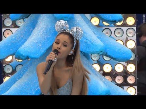 "Ariana Grande ""Santa Tell Me"" 2014 Disney Parks Christmas Day Frozen Parade"