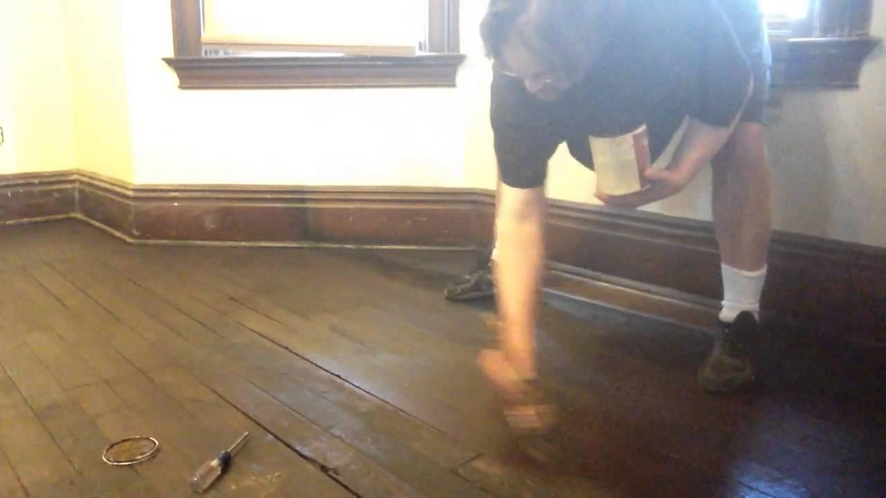 refinishing 100 year old floors without sanding