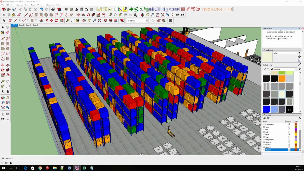 A 3d Warehouse Heatmap In Sketchup Made Easy Youtube