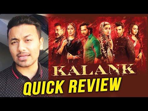 KALANK QUICK REVIEW | Varun Dhawan, Alia Bhatt, Sanjay Dutt, Madhuri, Sonakshi