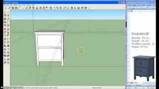 Google Sketchup Ikea Kommode Hemnes 2/3