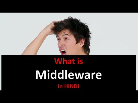 What is the middleware in HINDI