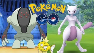CATCHING MEWTWO FOR MY FRIENDS + REGISTEEL IS NOW IN POKEMON GO!!