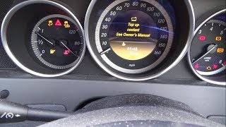Checking & Adding Engine Coolant to a Mercedes Benz C-Class 2012
