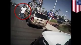 Suicide by cop? Body cam video shows police kill man who tried to shoot Las Vegas officer - TomoNews