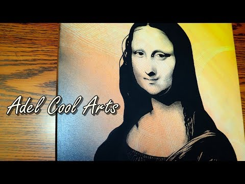 Adel Abstract Art   MONA LISA Pop Art   Painting Tutorial with Abstract Painting Background thumbnail