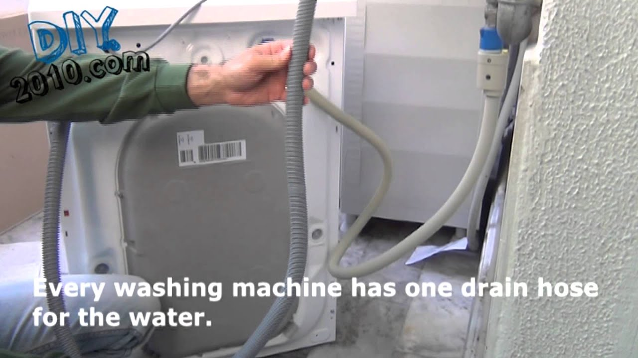 How to install a new washing machine  YouTube