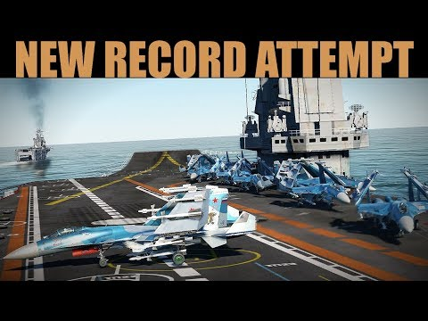 RECORD ATTEMPT | Land 12 Planes On A Sliding Carrier | DCS 2.5
