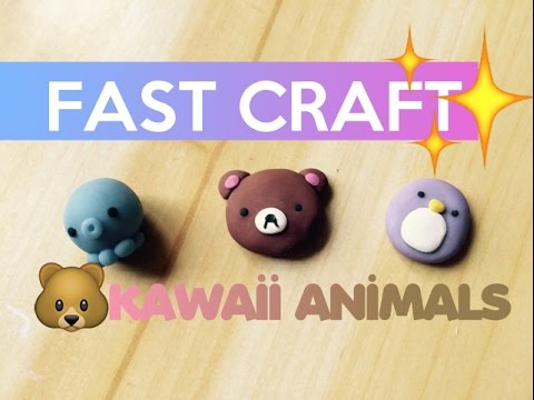Image of: Porcelana Fria Fast Craft Polymer Clay Kawaii Animals Youtube Fast Craft Polymer Clay Kawaii Animals Youtube