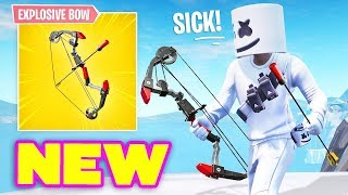 New Explosive Bow Is Here!? (Creator Code- OP_Cruxx) | Fortnite Live|
