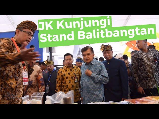 Wapres JK Kunjungi Stand Balitbangtan!