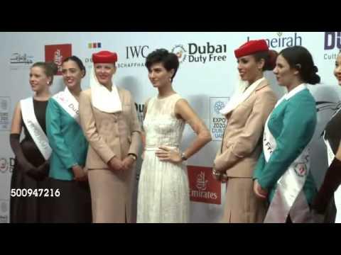 Tuba Büyüküstün on the red carpet of Dubai International Film Festival   YouTube