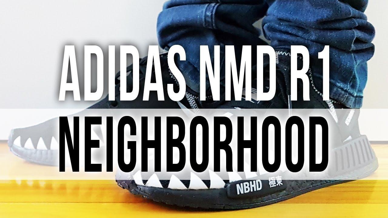 86fb69034cb4 ADIDAS NMD R1 X NEIGHBORHOOD on Feet and Close Up - YouTube