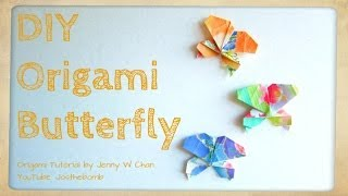 Diy Origami Butterfly - How To Fold A Butterfly - Summer Crafts -  Kids Crafts - Easy